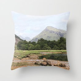 Here is realization - Glen Etive, Scotland Throw Pillow