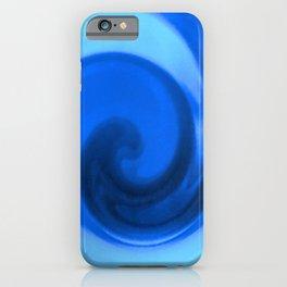Blue tie dye iPhone Case