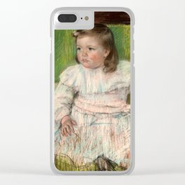 Mary Cassatt - The Pink Sash Clear iPhone Case