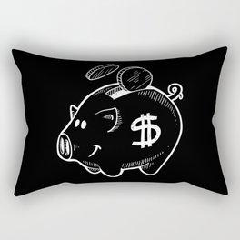 Money Cash Bank Capitalism Stock Market Rectangular Pillow