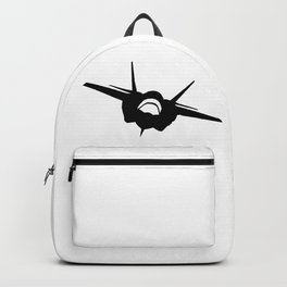 Fighter Jet Silhouette (Front-View) Backpack