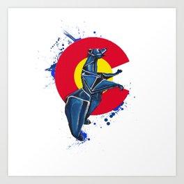 CO Standing Bear- Wild World Of Paper Series Art Print