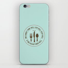 Dined Well iPhone Skin
