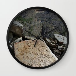 Prayer Stones en route to Pisang Wall Clock