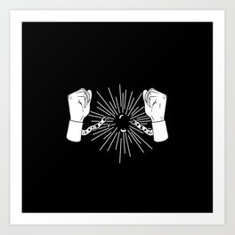 Break Chains Art Print