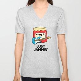 Just Jammin Cute Music Jam Pun Unisex V-Neck