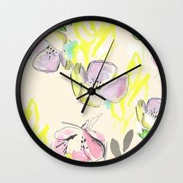 Femme Florale Wall Clock