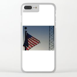 Flag in the Night Clear iPhone Case
