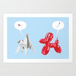 Dog Fight Art Print