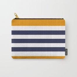 Stylish Classy Navy Blue Orange STRIPES Carry-All Pouch