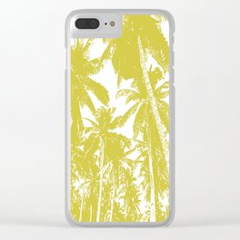 Palm Trees Design in Gold and White Clear iPhone Case