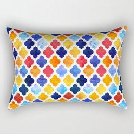 Marrakesh Moroccan red and blue #homedecor #Moroccan Rectangular Pillow