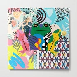 Frog Abstract Metal Print