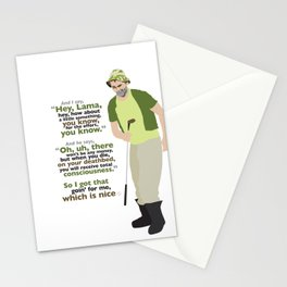 Carl Spackler and the Lama Stationery Cards