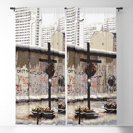 Berlin Wall Peter Fechter Memorial Blackout Curtain