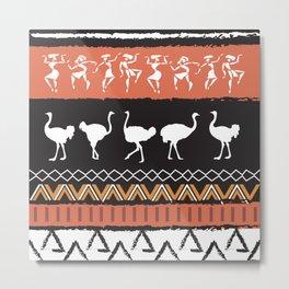 African Tribal Pattern No. 69 Metal Print