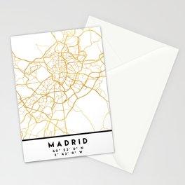 MADRID SPAIN CITY STREET MAP ART Stationery Cards