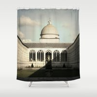 italy Shower Curtains featuring Pisa - Italy by SamVanVoorst