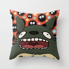 Friendly Forest Spirit Throw Pillow