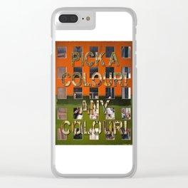 Postmodernism 07b Clear iPhone Case