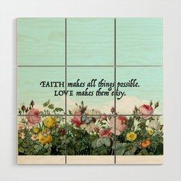 Faith & Love Wood Wall Art