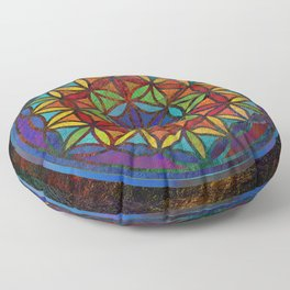 The Flower of Life (Sacred Geometry) 3 Floor Pillow