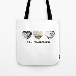 San Francisco Heart (brown) Tote Bag