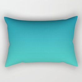 Mosaic Blue and Biscay Gradient Rectangular Pillow