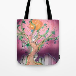 Digital Leaves Tote Bag