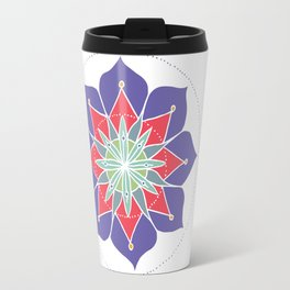 Purple Merrymaking Mandala Travel Mug