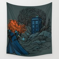 hallion Wall Tapestries featuring Follow Your fate by Karen Hallion Illustrations
