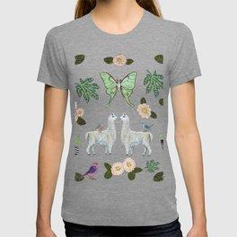 Llama and Luna Moth T-shirt