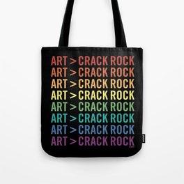 ART > CRACK ROCK Tote Bag