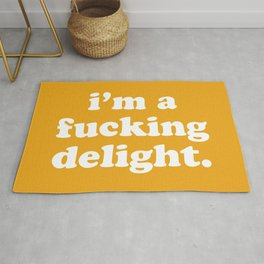 I'm A Fucking Delight Funny Quote Rug