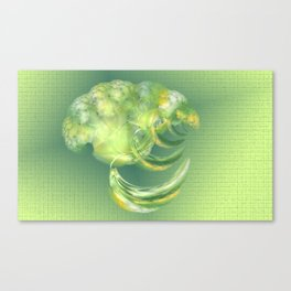 The green Brain Canvas Print