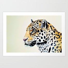 The Leopard Watercolor (Color) Art Print