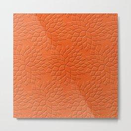 Leather Look Petal Pattern - Flame Color Metal Print