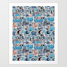 Gross Pattern Art Print
