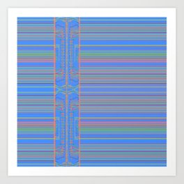 Tribal Stripe Pattern Art Print