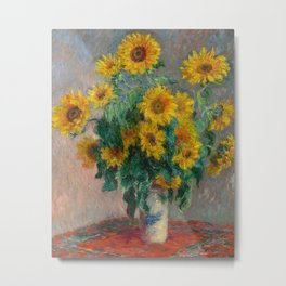 Bouquet of Sunflowers by Claude Monet, 1881 Metal Print