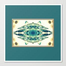 blue grass mosaic Canvas Print