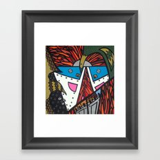 SPACEBIRDS CIRCLING the MOTHERSHIP at the INTERGALACTIC DOCKING PORT Framed Art Print