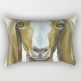 Goat Painting, Farm Animal Art Rectangular Pillow
