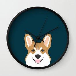 Teagan - Corgi Welsh Corgi gift phone case design for pet lovers and dog people Wall Clock