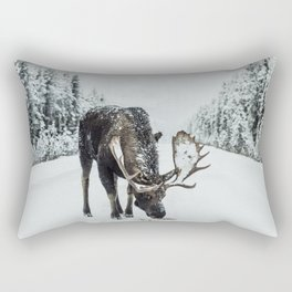 Moose in the wild Rectangular Pillow