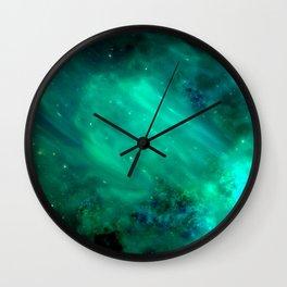 Teal Blue Indigo Sky, Stars, Space, Universe, Photography Wall Clock