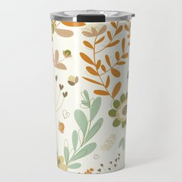 Little Creme Garden Flowers Travel Mug