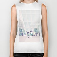 home sweet home Biker Tanks featuring Home sweet home by Salome Gautier