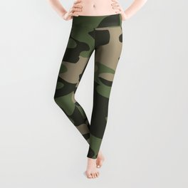 Camo- Military Green Leggings