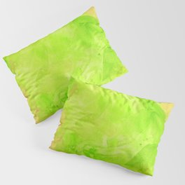 Through The Looking Glass Lime Green Pillow Sham